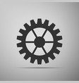 gear icon isolated on grey background flat design vector image