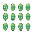 green men series 001 vector image vector image