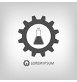 Grey chemical industry logo vector image vector image