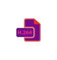 H264 Icon vector image vector image