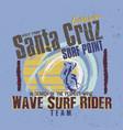 in search perfect wave santa cruz vector image vector image