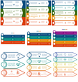 Infographics cyclic processes 9 templates vector image