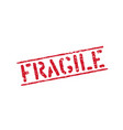 isolated fragile grunge box sign for logistics and vector image vector image