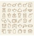 Kitchenware lline vector image