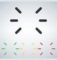led flashing status light icon greenyellowred vector image