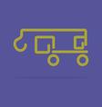 Linear crane truck icon vector image vector image