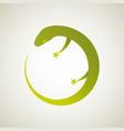 lizard logo stylized simplified and isolated vector image vector image