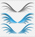 logo of the wings three options for your choice vector image