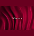 luxurious red silk fabric background abstract vector image vector image