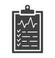 medical clipboard glyph icon medicine vector image vector image