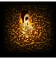 musical background fire break with a treble clef vector image vector image