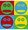 Pop art face icons vector image