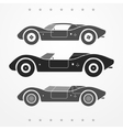 Race cars set vector image vector image