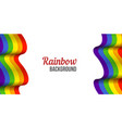 rainbow flag background waving lgbt flag on white vector image vector image