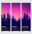 rave party flyer design template in 1980s style vector image vector image