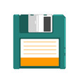 retro diskette on a white vector image