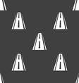 Road icon sign Seamless pattern on a gray vector image vector image