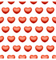 Seamless heart love background vector image vector image