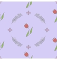Seamless spring flower background pattern vector image vector image