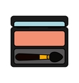 shadow make-up product isolated icon vector image vector image