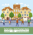 social distancing and from covid-19 coronavirus vector image vector image