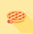 strawberry pie with strawberries vector image vector image
