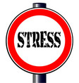 stress traffic sign vector image vector image