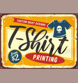 t shirt printing service shop sign vector image