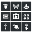 The hobby of collecting icons set vector image vector image