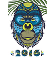 The year of the monkey vector image