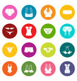underwear icons set colorful circles vector image vector image