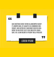 web paper sheet with profound quote attached vector image vector image