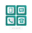 Website and Internet contact icons set vector image vector image