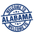 welcome to alabama blue stamp vector image vector image