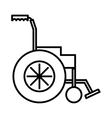 Wheelchair icon outline style vector image vector image