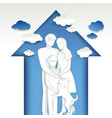 happy family in house vector image