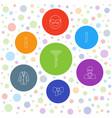 7 tie icons vector image vector image