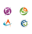 adoption and community care logo template vector image