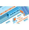 advertising in metro background vector image vector image