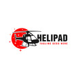 air transport helicopter logo design vector image