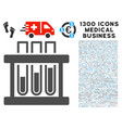 analysis test-tubes icon with 1300 medical vector image vector image