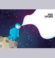 astronaut astronaut walking on moon or vector image