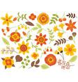 Autumn Floral Set vector image vector image