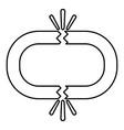 Broken link icon black color flat style simple