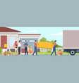 cargo company moving home men carry sofa vector image