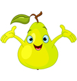 cartoon pear character vector image vector image