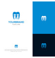 castle tooth logo template vector image