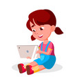 children s gadget dependence social vector image