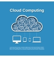 Cloud computing concept vector image vector image