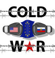 cold war-conflict vector image vector image